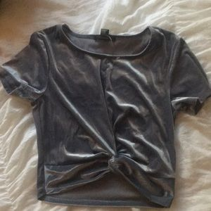 Forever 21 Tops - Velvet Crop Top